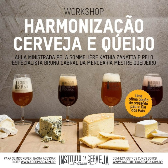 harmonização cerveja queijo