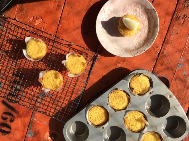 muffin de milho doce